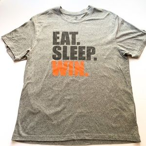 Gray Eat Sleep Win T-shirt Old Navy Active L